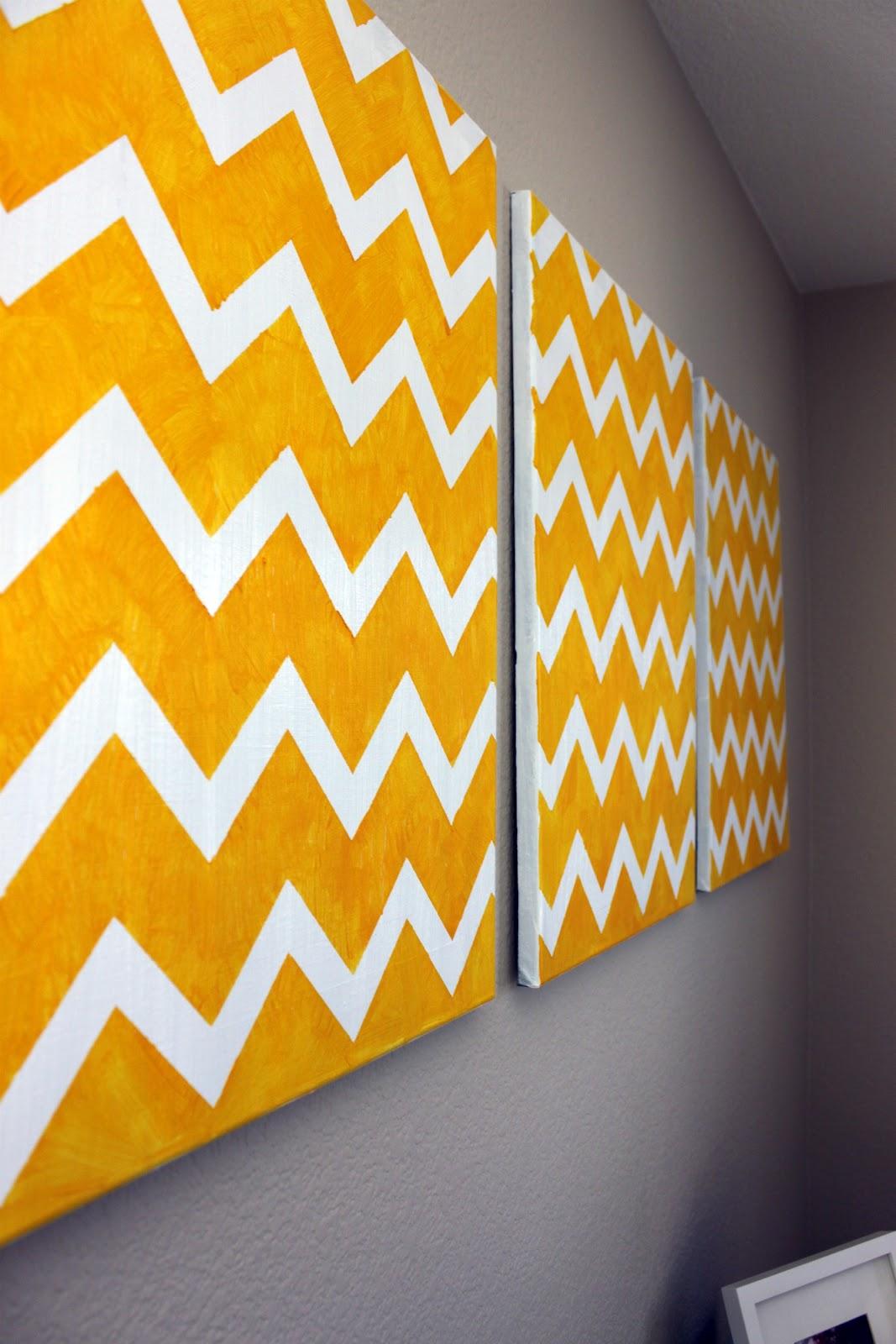 DIY Chevron Wall Art   Craftistas