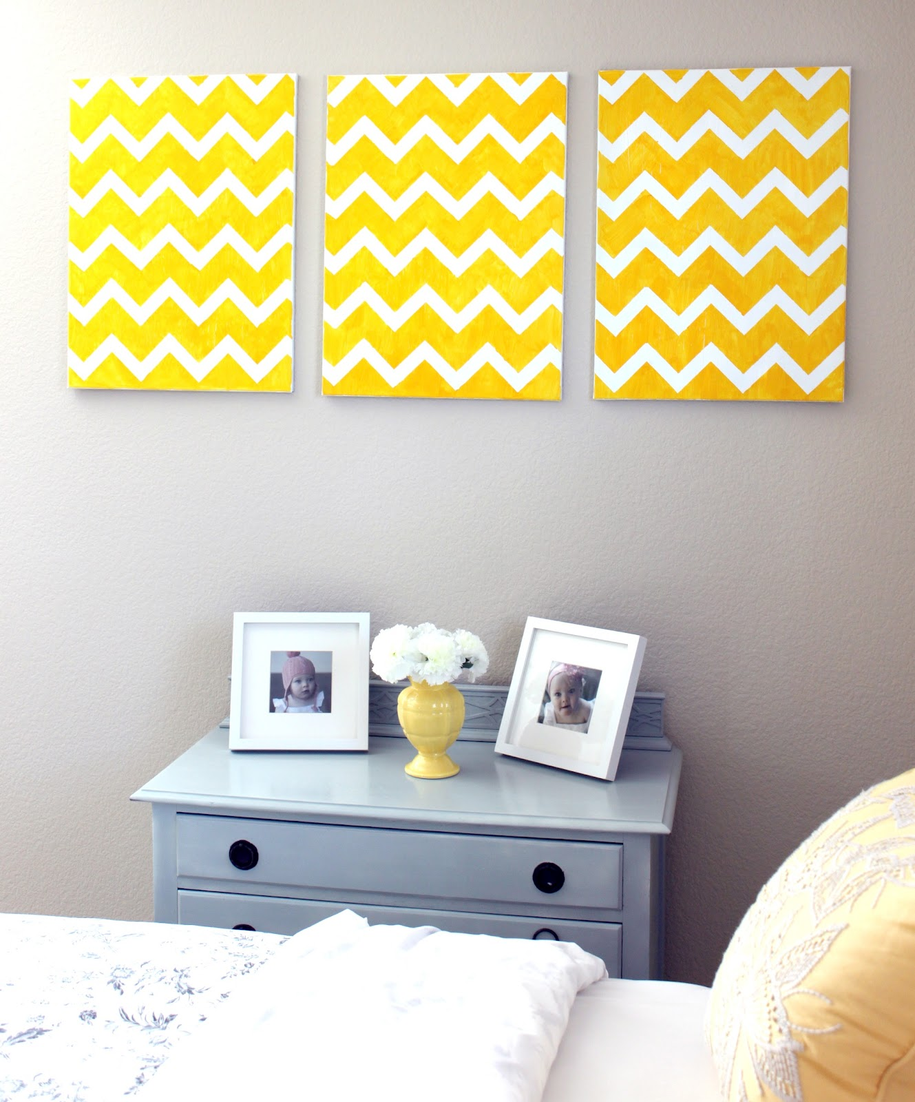 diy chevron wall art craftistas