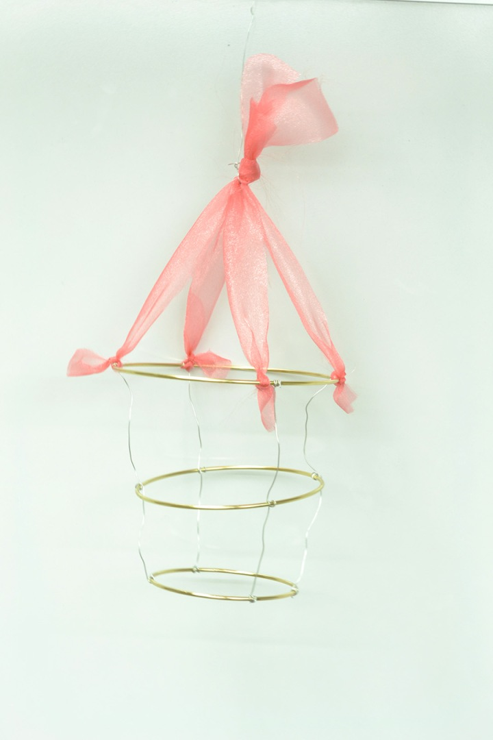 DIY paper chandelier craft kit step 8