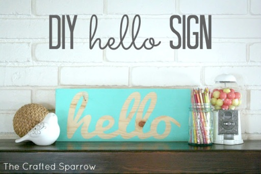 CraftedSparrowDIYhelloSign