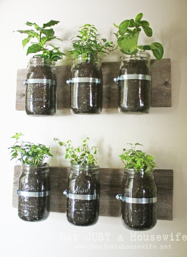 Not Just a Housewife Mason Jar Planters