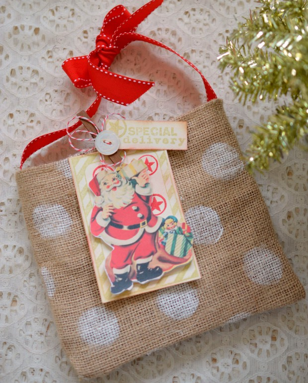 christmas burlap bag