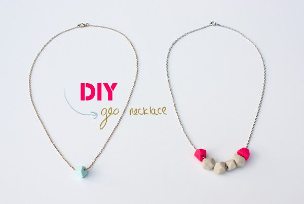 DIY Geo Necklace