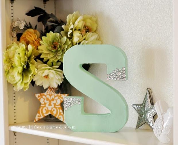Glitzy letters