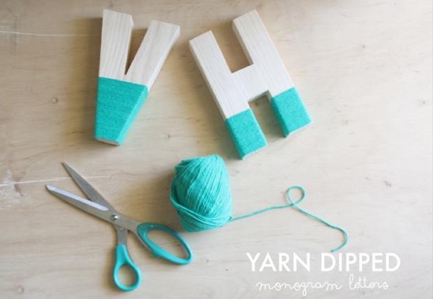 Yarn dipped
